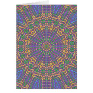 Cartão Mandala vibrante 2
