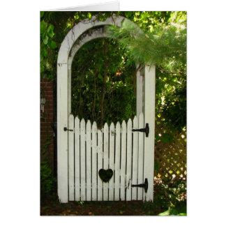 Cartão Mandril do coração do jardim da simpatia