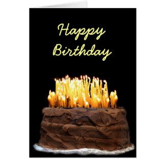 Cartão Maneira da maneira sobre o aniversário do monte