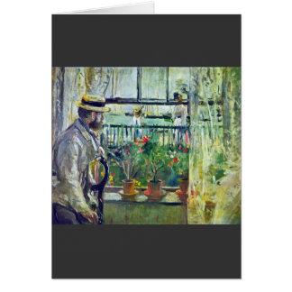 Cartão Manet na ilha do Wight por Berthe Morisot