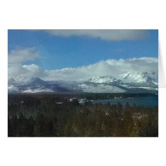 Cartão Manhã brilhante de Tahoe