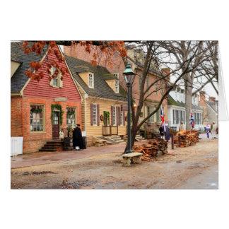 Cartão Manhã colonial - Williamsburg