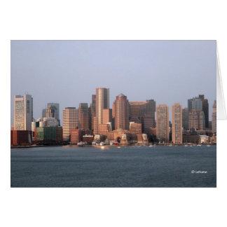 Cartão Manhã de Boston--obrigado