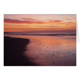 Cartão Manhã do nascer do sol