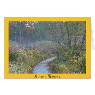 Cartão Manhã do outono