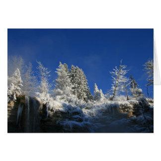 Cartão Manhã gelado do inverno