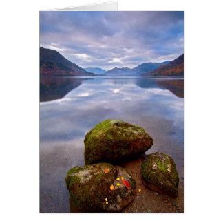 Cartão Manhã tranquilo, Ullswater, o distrito do lago