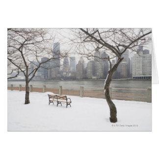 Cartão Manhattan no inverno