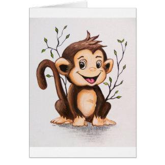 Cartão Manny o macaco