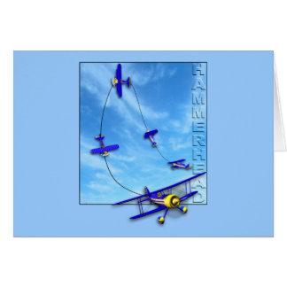 Cartão Manobra Aerobatic do Hammerhead com biplano