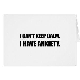 Cartão Mantenha a ansiedade calma