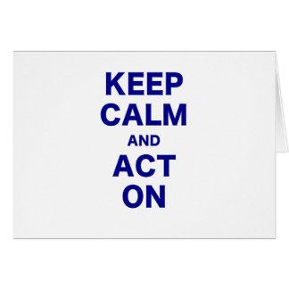 Cartão Mantenha a calma e actue sobre