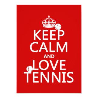 Cartão Mantenha a calma e ame o tênis