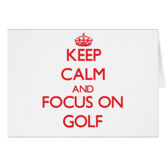 Cartão Mantenha a calma e o foco no golfe