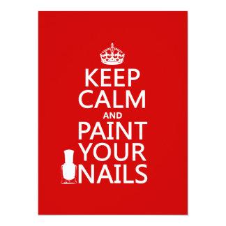 Cartão Mantenha a calma e pinte suas unhas (todas as