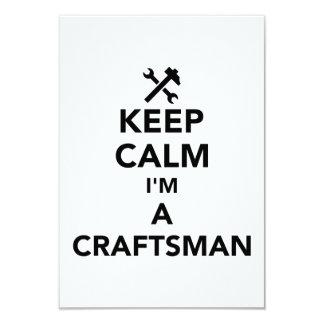 Cartão Mantenha a calma que eu sou um artesão