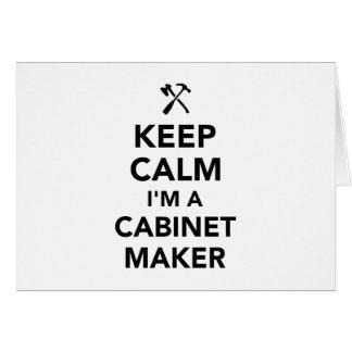 Cartão Mantenha a calma que eu sou um cabinetmaker