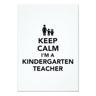 Cartão Mantenha a calma que eu sou um professor de jardim