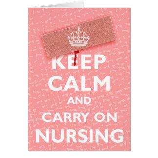 Cartão Mantenha calmo & continue nutrir