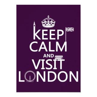 Cartão Mantenha calmo e visita Londres