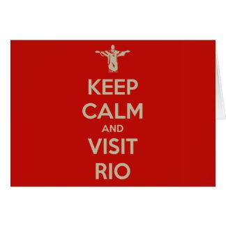 Cartão Mantenha calmo e visita Rio