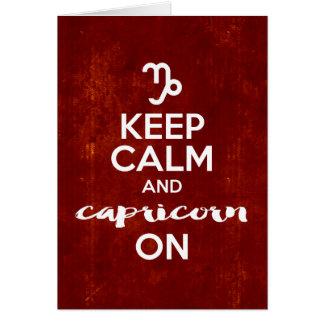 Cartão Mantenha o Capricórnio calmo no horóscopo do