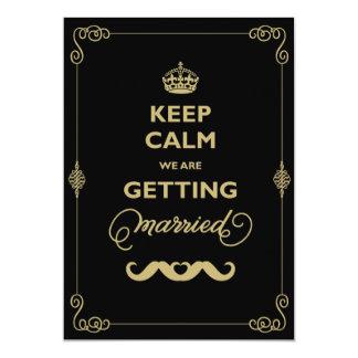 Cartão Mantenha o casamento alegre do vintage clássico