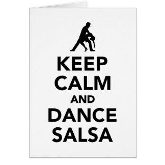 Cartão Mantenha salsa calma e da dança