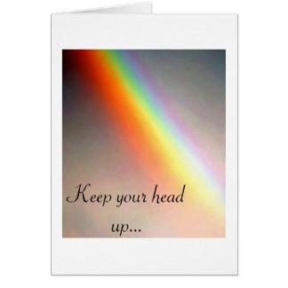 Cartão Mantenha sua cabeça acima…