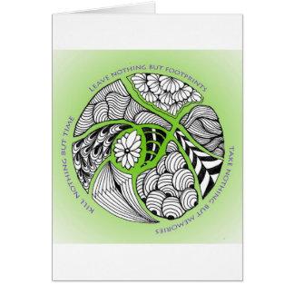 Cartão Mantra ambiental para caminhantes & montanhista de
