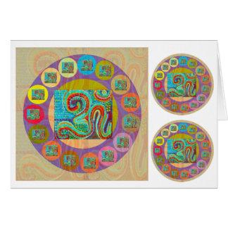 Cartão Mantra de OM: Exposição encorajadora e Chanting