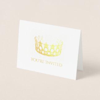 Cartão-Manutenção programada do convite da coroa