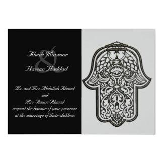 Cartão Mão do Henna de Hamsa (casamento)