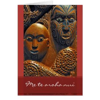 Cartão maori do dia dos namorados
