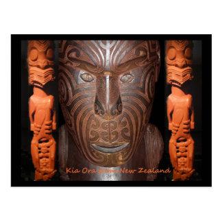 Cartão maori dos carvings