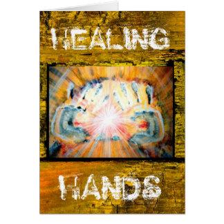 Cartão Mãos curas & o trajeto da vida