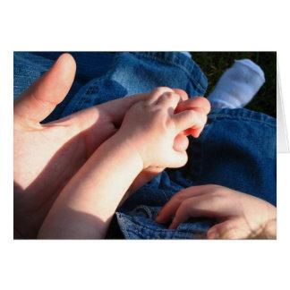 Cartão Mãos do bebê