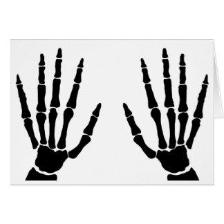 Cartão Mãos do osso isoladas