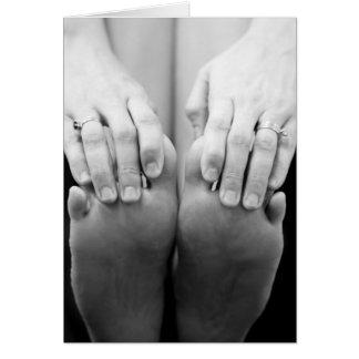 Cartão Mãos e pés