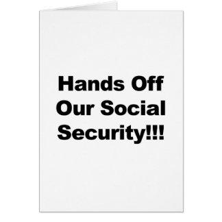 Cartão Mãos fora da segurança social
