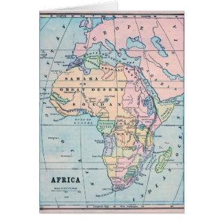 Cartão Mapa 1870 do vintage de África