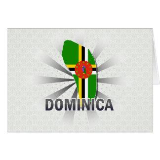 Cartão Mapa 2,0 da bandeira de Dominica