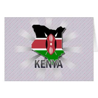 Cartão Mapa 2,0 da bandeira de Kenya