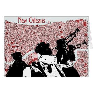Cartão Mapa abstrato de Nova Orleães