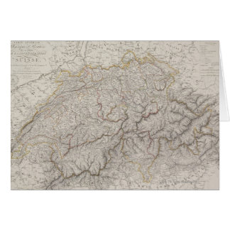 Cartão Mapa antigo da suiça