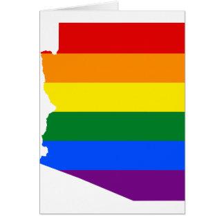 Cartão Mapa da bandeira da arizona LGBT