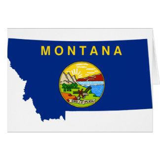 Cartão Mapa da bandeira de Montana