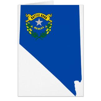 Cartão Mapa da bandeira de Nevada