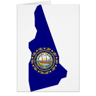 Cartão Mapa da bandeira de New Hampshire