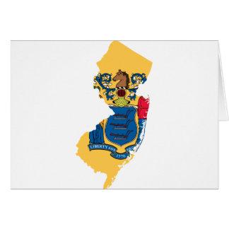 Cartão Mapa da bandeira de New-jersey